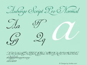 Auberge Script Pro Normal Version 1.000图片样张