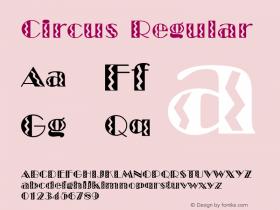 Circus Regular WSI:6/20/94 Font Sample