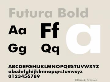 Futura Bold 2.0-1.0 Font Sample