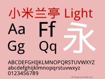 小米兰亭 Light Version 1.00 July 28, 2017, initial release图片样张