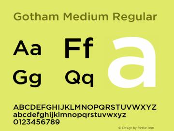 Gotham Medium Font Family|Gotham Medium-Sans-serif Typeface