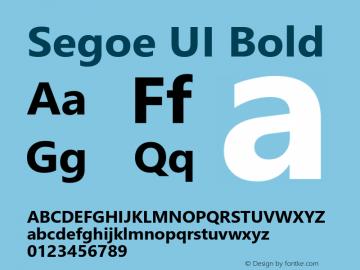 Segoe UI Bold Version 5.32图片样张