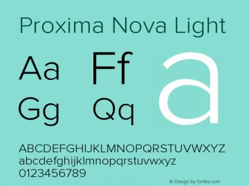 ProximaNova-Light Version 1.000;PS 001.000;hotconv 1.0.38图片样张
