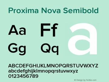 ProximaNova-Semibold Version 1.000;PS 001.000;hotconv 1.0.38图片样张