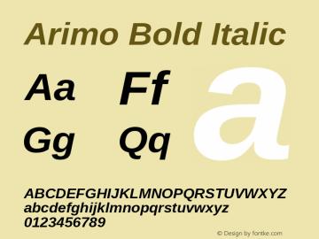 Arimo Bold Italic Version 1.23图片样张