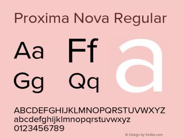 Proxima Nova Regular Version 3.001;PS 003.001;hotconv 1.0.88;makeotf.lib2.5.64775图片样张