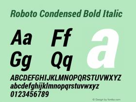 Roboto Condensed Bold Italic Version 1.00 August 20, 2016, initial release图片样张