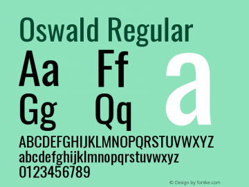 Oswald Regular Version 4.100图片样张