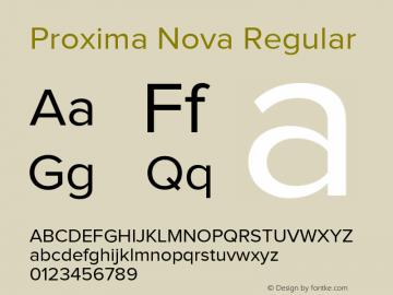 Proxima Nova Rg Regular Version 1.001 2005图片样张
