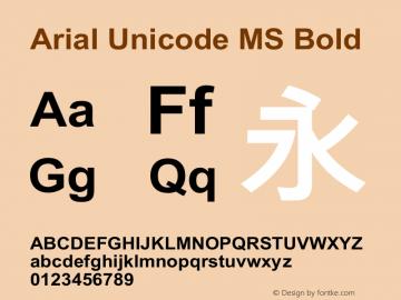 Arial Unicode MS Bold Version 1.00图片样张