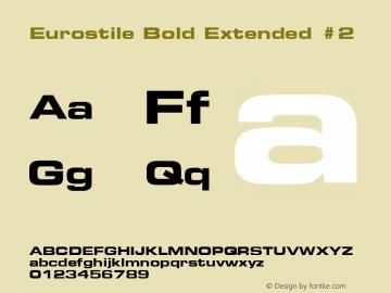 Eurostile Bold Extended #2 001.002图片样张