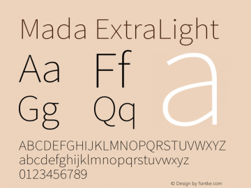Mada ExtraLight Version 1.004图片样张