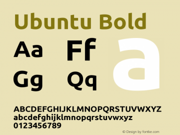 Ubuntu Bold 0.83 Font Sample