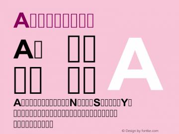 Arial Bold Version 6.98图片样张