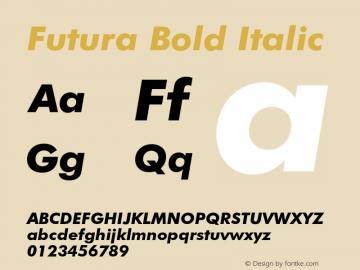 Futura Bold Italic 2.0-1.0 Font Sample