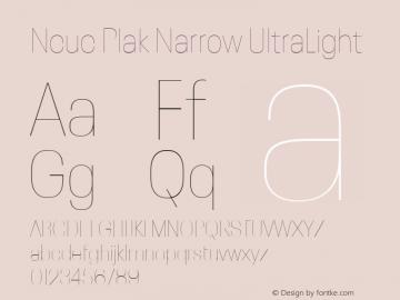 Neue Plak Narrow UltraLight Version 1.00, build 9, s3图片样张