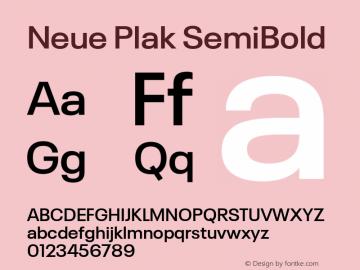 Neue Plak SemiBold Version 1.00, build 9, s3图片样张
