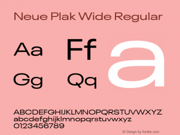 Neue Plak Wide Regular Version 1.00, build 9, s3图片样张