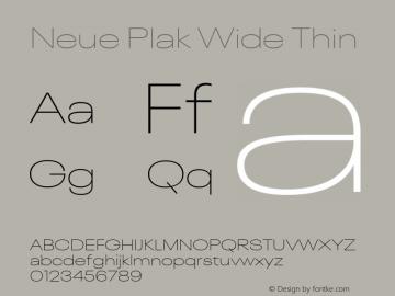 Neue Plak Wide Thin Version 1.00, build 9, s3图片样张