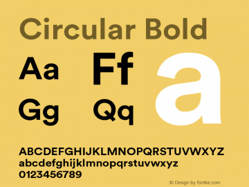 Circular Bold Version 1.001图片样张