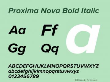 Proxima Nova Version 3.014;PS 003.014;hotconv 1.0.88;makeotf.lib2.5.64775图片样张