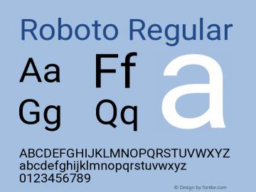 Roboto Version 2.135; 2016图片样张