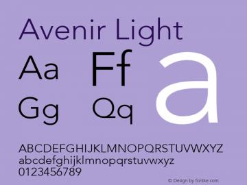 Avenir Light 8.0d5e3图片样张