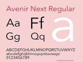 Avenir Next Regular 13.0d1e10图片样张