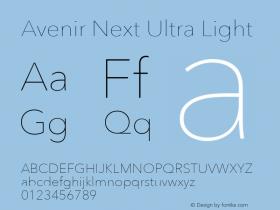 AvenirNext-UltraLight 13.0d1e10图片样张