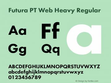 Futura PT Web Heavy Version 1.002W图片样张