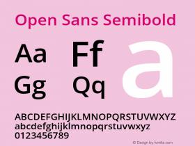 Open Sans Semibold Regular Version 1.10图片样张