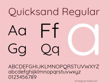 Quicksand Regular Version 3.000图片样张