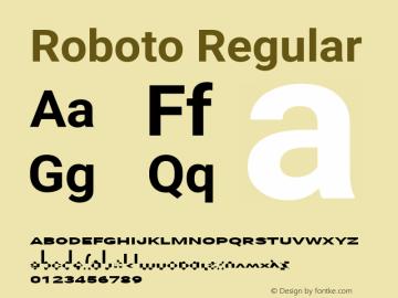 Roboto-Regular Version 2.137; 2017图片样张