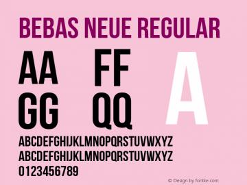 Bebas Neue Regular Version 1.000图片样张