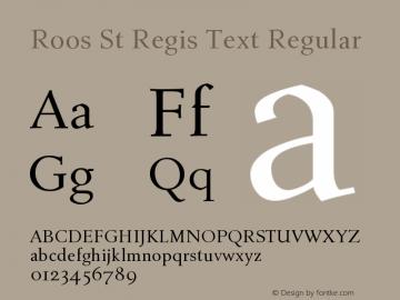 RoosStRegisText-Regular Version 2.0图片样张