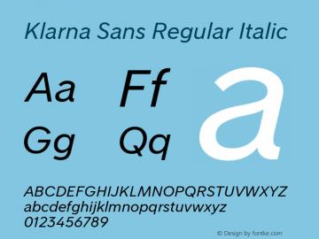 Klarna Sans Regular Italic Version 1.000图片样张