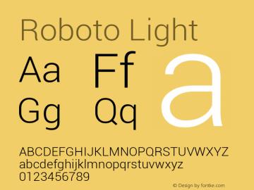 Roboto Light Version 1.00000; 2011图片样张
