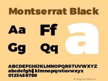Montserrat Black Version 1.00 May 20, 2016, initial release图片样张
