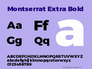 Montserrat Extra Bold Version 3.001 May 20, 2016图片样张