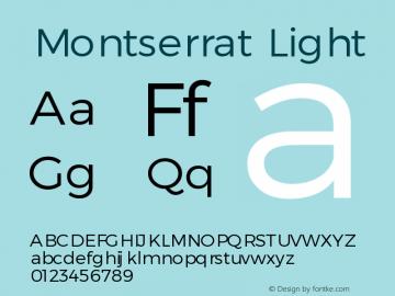 Montserrat Light Version 1.00 May 20, 2016, initial release图片样张