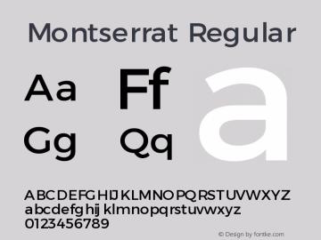Montserrat Version 1.00 May 20, 2016, initial release图片样张