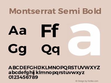 Montserrat Semi Bold Version 3.001 May 20, 2016图片样张
