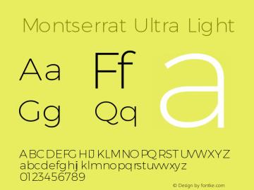 Montserrat Ultra Light Version 3.001 May 20, 2016图片样张