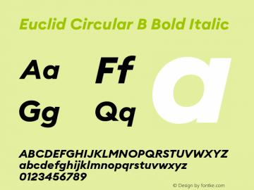 Euclid Circular B Font,EuclidCircularB-BoldItalic Font,Euclid