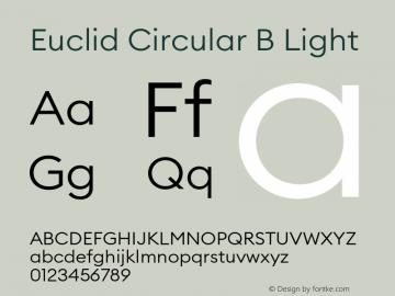 Euclid Circular B Font,EuclidCircularB-Light Font,Euclid Circular B