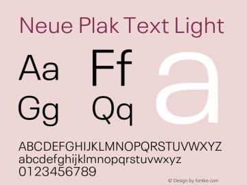 Neue Plak Text Light Version 1.00, build 10, s3图片样张