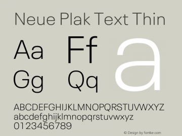 Neue Plak Text Thin Version 1.00, build 10, s3图片样张