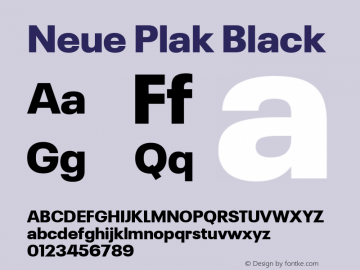 Neue Plak Black Version 1.00, build 9, s3图片样张