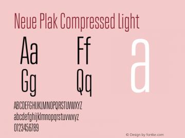 Neue Plak Compressed Light Version 1.00, build 9, s3图片样张
