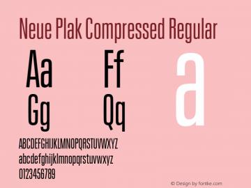 Neue Plak Compressed Regular Version 1.00, build 9, s3图片样张